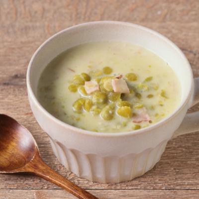 グリーンスプリットピーのスープ