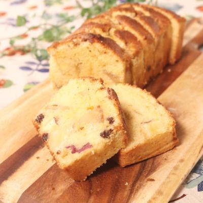 さつまいもとりんごのパウンドケーキ