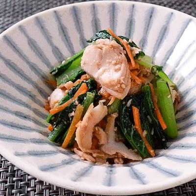 ホッケと小松菜の胡麻和え