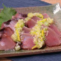 柚子でさっぱりカツオのねぎ塩サラダ