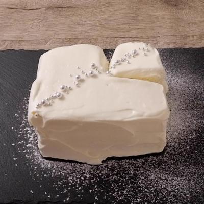 電子レンジでホワイトケーキ