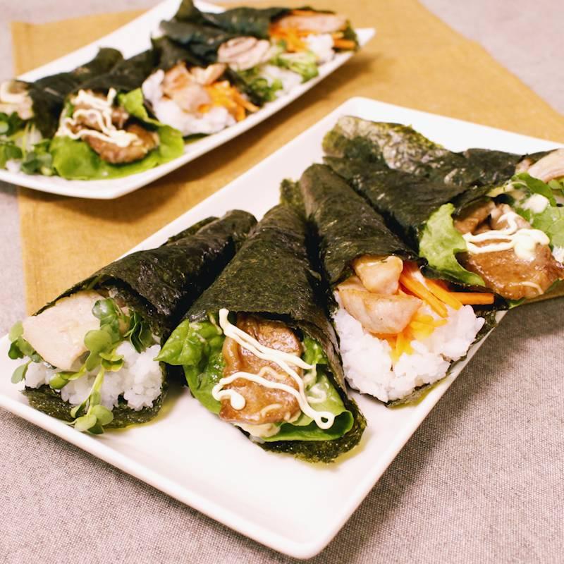 手 巻き 寿司 肉