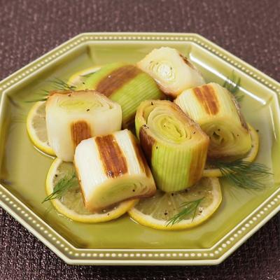 レモン香る リーキの焼きマリネ