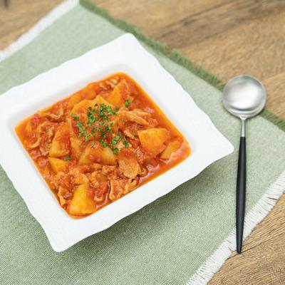「パブロン かぜに愛情レシピ」レンジで濃厚!じゃがいものトマト煮込み