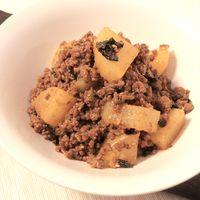 大根とひき肉のピリ辛煮