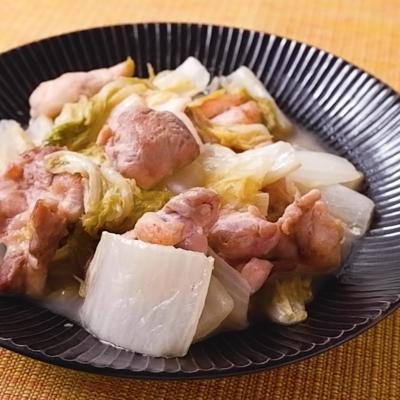 白菜と鶏肉のレモン風味炒め