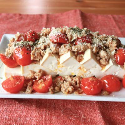 冷あつ ひき肉とトマトのイタリアン豆腐