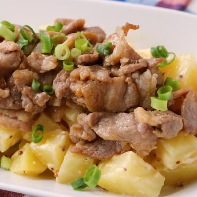 お肉でガッツリ 焼肉ポテトサラダ