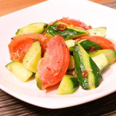 トマトときゅうりのナンプラー炒め