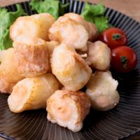 ちくわとたらこチーズの天ぷら