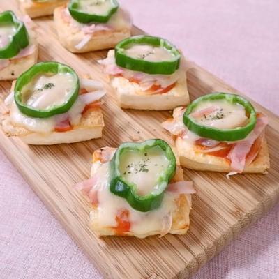 簡単でおいしい 豆腐ピザ