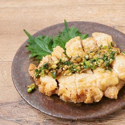 鶏もも肉の香味野菜の万能ソースがけ