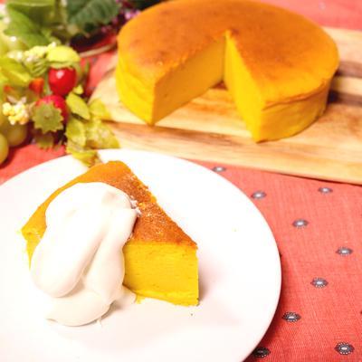 ふわふわ!しゅわしゅわ!かぼちゃのスフレチーズケーキ