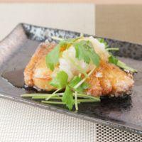 ブリのシンプル竜田揚げ おろしポン酢のせ