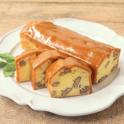 ピーカンナッツとキャラメルのパウンドケーキ
