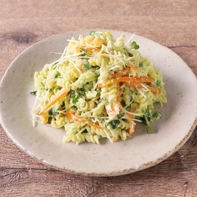 濃厚枝豆ソースで食べる サラダパスタ