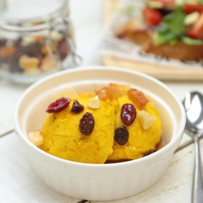 水切りヨーグルトで かぼちゃのクリームチーズ風