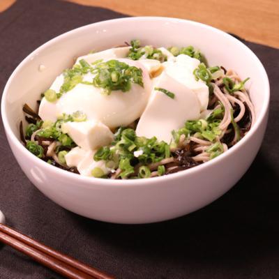 簡単!ぶっかけ豆腐の塩昆布そば