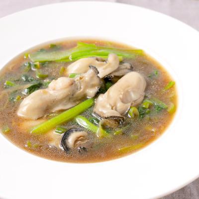 牡蠣と小松菜のオイスターソース炒め