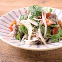 牛肉と新玉ねぎのエスニックサラダ