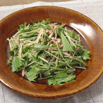 さっぱり ハムと水菜のマヨポンサラダ