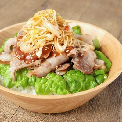サムギョプサル風丼