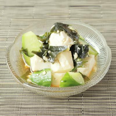 ごま油香る豆腐サラダ
