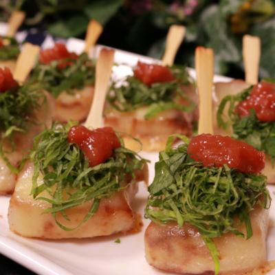豚バラ肉の梅肉チーズ串