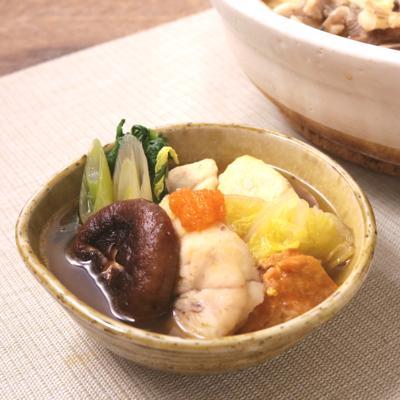 しょうゆ仕立てのあんこう鍋
