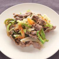 ラム肉と彩り野菜のオイスター炒め
