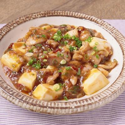 ジューシー鶏もも肉の麻婆豆腐