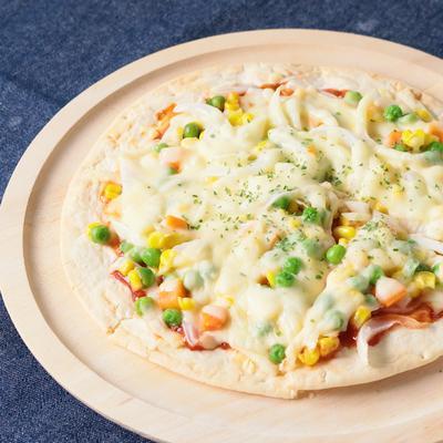 ミックスベジタブルで 簡単ピザ