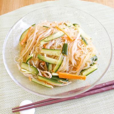 今日はこれでお腹いっぱい!中華風春雨サラダ