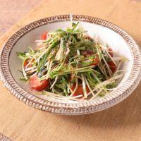 水菜とかつお節の和風サラダ