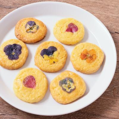 エディブルフラワーのクッキー