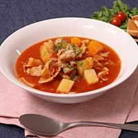 余り野菜たっぷり!トマトスープ