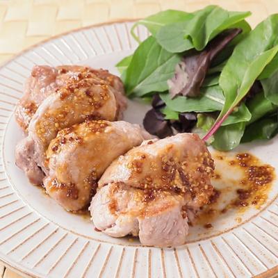 豚ヒレ肉のステーキ マスタードソース
