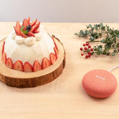 オーブン要らず!簡単いちごのクリスマスドームケーキ