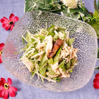 水菜救済!水菜とささみの和風サラダ