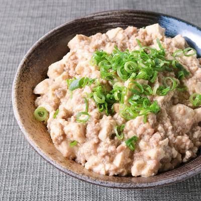 花椒香る くずし豆腐とひき肉のあんかけ丼