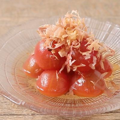ミニトマトの冷たいダシ漬け