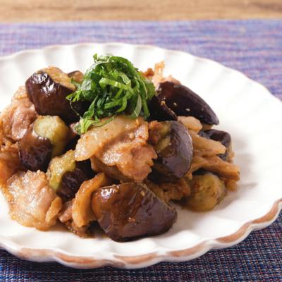 豚肉とナスのごま味噌炒め