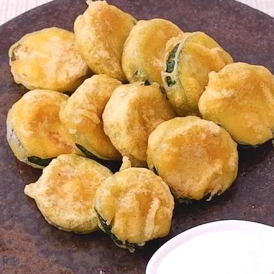 ズッキーニのカレー風味天ぷら