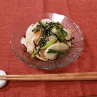 簡単副菜!ニンニク香るカブと塩昆布の和え物