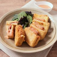 高野豆腐のハムチーズフライ