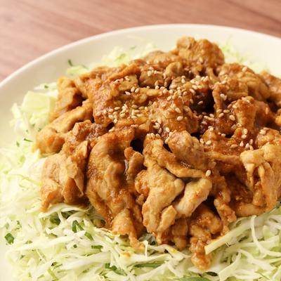 簡単カレー風味の生姜焼き
