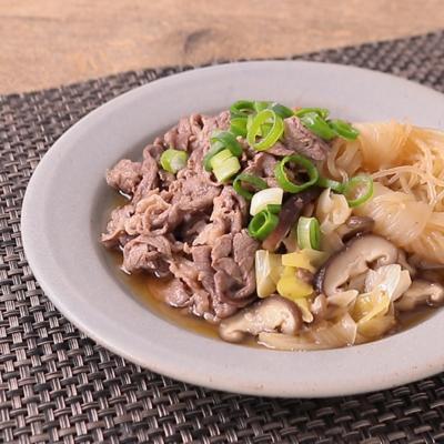 レンジでお手軽 牛肉のすき煮