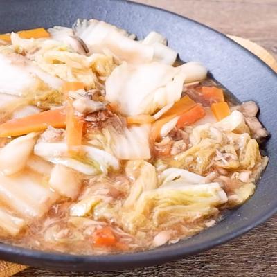 白菜とツナの中華風うま煮