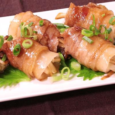 豚バラ肉のエリンギ巻き