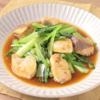 ブリと小松菜のオイスター炒め